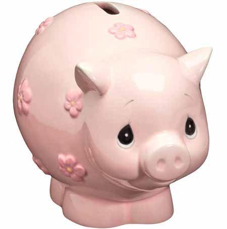Precious Moments 162425 Baby Piggy Bank Ceramic Figurine
