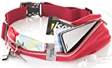 Red Running Belt – Fanny Pack – iPhone 6 7 8 Plus Pouch for Runners - Best Fitness Gear for Hands Free Workout – Reflective Waist Pack by Sport2People (Red)