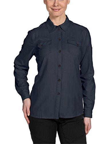 Jack Wolfskin Damen Bluse Brightwater Shirt Women, Night Blue, M, 1401191-1010003