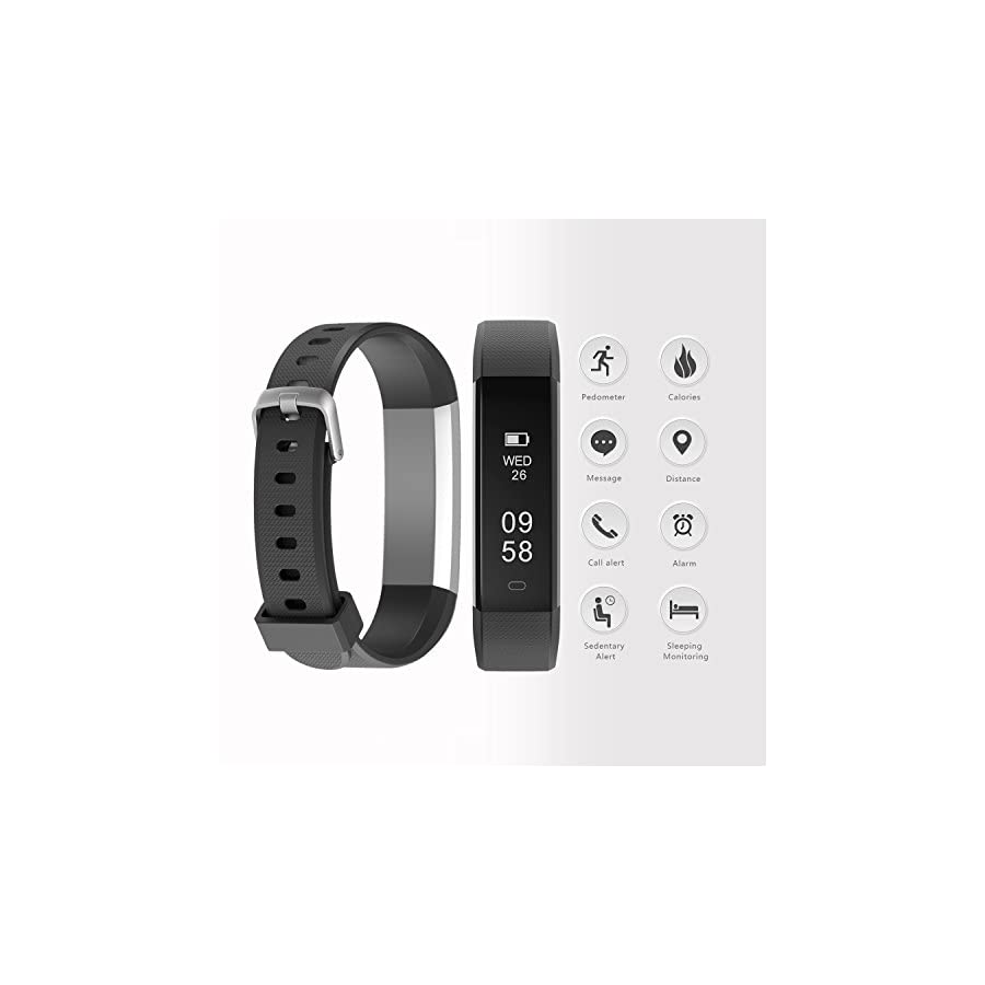 TwobeFit Fitness Tracker, Waterproof Activity Tracker with Sleep Monitor Pedometer Step Counter Smart Watch Bracelet Bluetooth Wristband for Kids Women Men for Android/IOS Cellphone