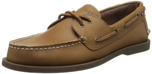 Tommy Hilfiger Men's Bowman Boat shoe,Tan,9.5 M US Brown Leather Boat