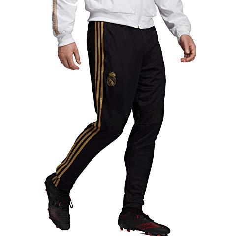 adidas Men's Real Madrid Training Pant 2019-20 (Small) Black/Dark Football Gold