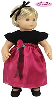 RED MINNIE DRESS fits Bitty Baby//Twins includes Yellow Slippers /& Black Tights