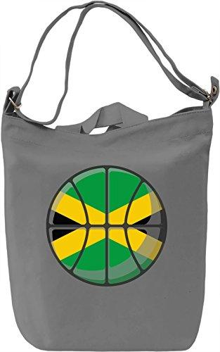 Jamaica Basketball Borsa Giornaliera Canvas Canvas Day Bag| 100% Premium Cotton Canvas| DTG Printing|