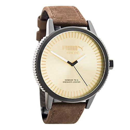 Puma Brown Watch - PUMA Time Suede PU104101006 Mens Wristwatch very sporty