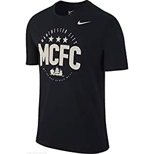 Nike Men's MCFC Core Plus T-Shirt Small Black