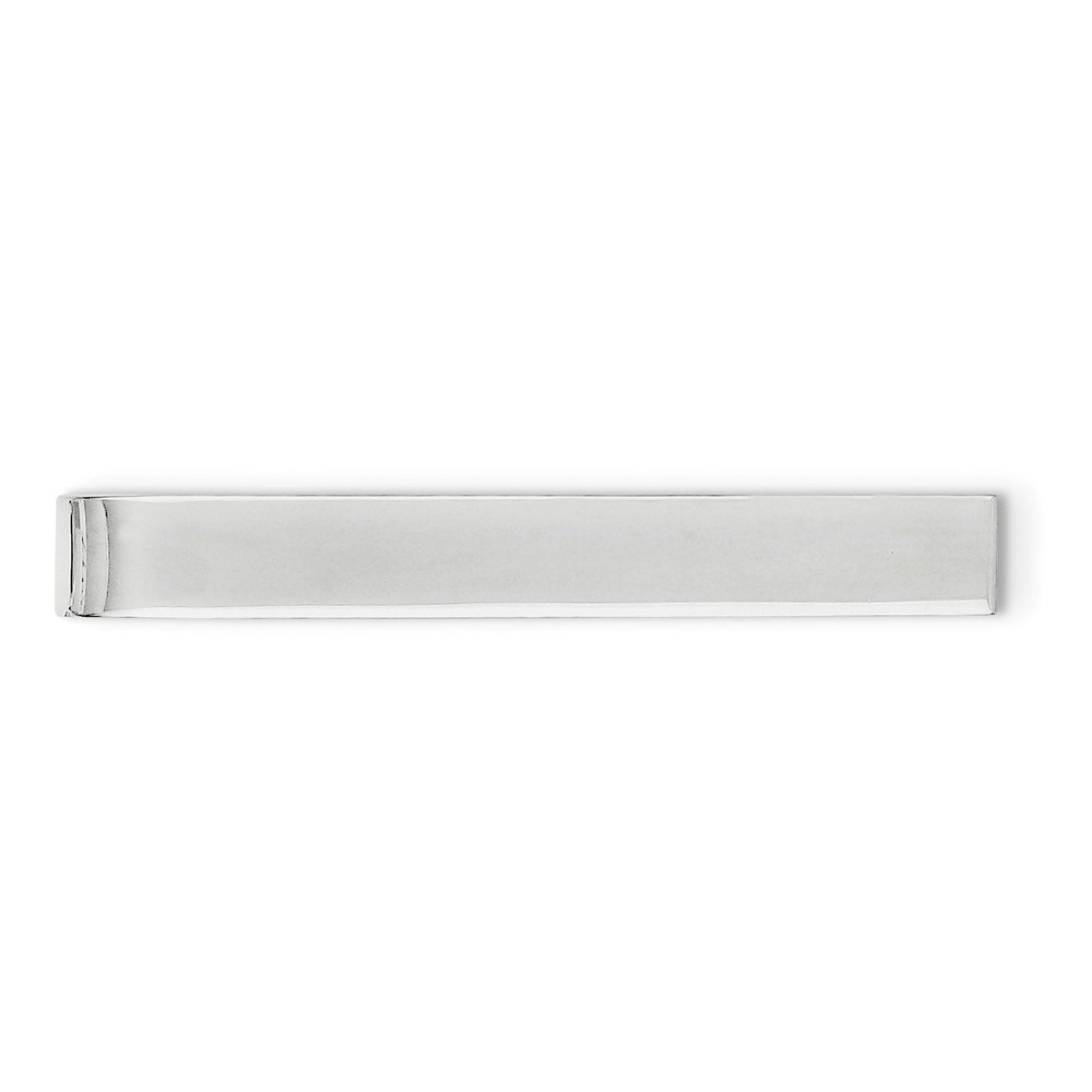 Solid 925 Sterling Silver Tie Bar (7mm x 45mm) Sonia Jewels 3178723751