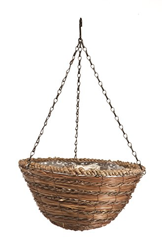 Panacea 88634 Hanging Basket, Rope and Fern, 12-Inch