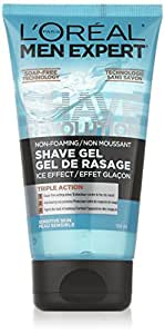 L'Oreal Paris Men Expert Shave Revolution Shaving Gel, Sensitive Skin, 150 ML