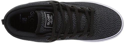 Globe Motley Mid Ns GBMOTLEYM - Zapatillas de skate de ante para hombre Black Woven/white