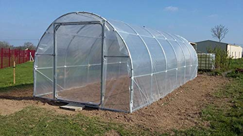 SUNSCOVER Greenhouse Plastic Film Clear Polyethylene Cover UV Resistant, 10 ft Wide x 25 ft Long by SUNSCOVER (Image #1)
