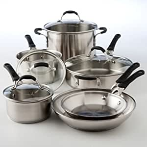 Amazon Com Cooking With Calphalon 10 Pc Stainless Steel