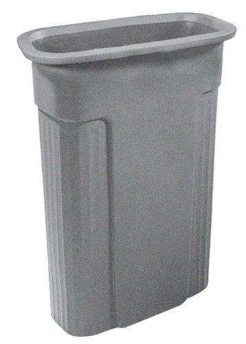 Toter 0REC21-R1GST Slimline Rectangular Trash Can, 23-Gallon, Graystone 23 Gallon Rectangular Waste Containers