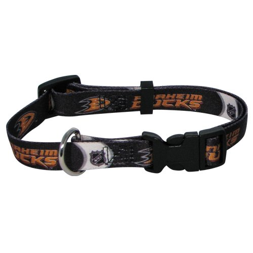 NHL Anaheim Ducks Adjustable Pet Collar, Team Color, X-Small