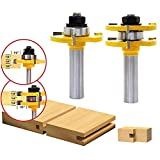 AuSL 2 Pieces Tongue and Groove Router Bit Set