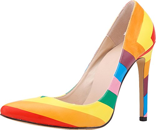 CFP - Sandalias con cuña mujer arcoíris