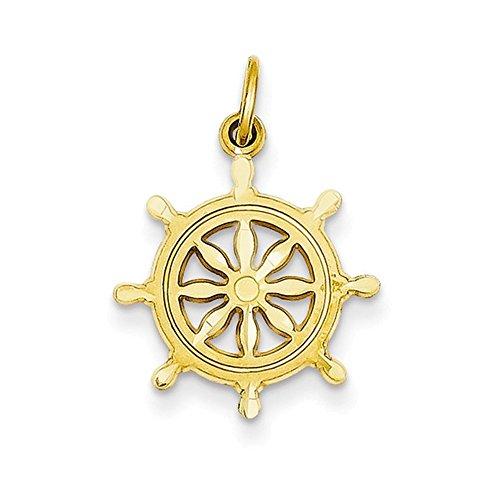 Jewelry Adviser Charms 14k Ships Wheel Charm