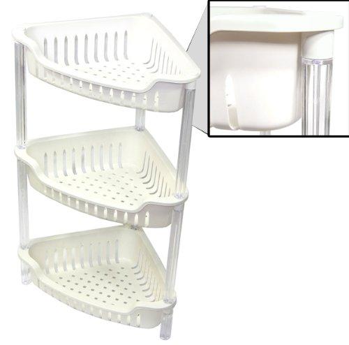 HQ 4 Tier Corner Plastic Bathroom Rack: Amazon.co.uk: Kitchen & Home