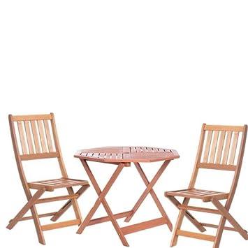 Tavoli Richiudibili Per Esterno.Carmen Set Tavolo E Sedie Pieghevoli In Legno Da Giardino Tavoli