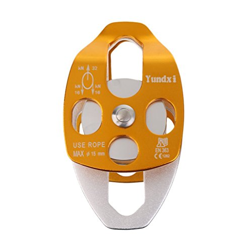Yundxi Climbing 32KN 7100 lbs Rescue Pulley Double