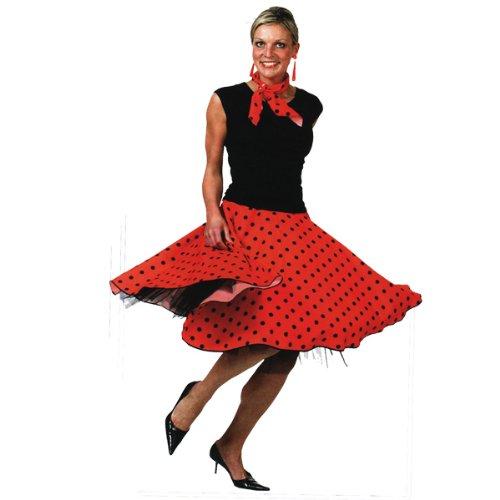 2397ed69b6c7 Rock Skirt red rot schwarz 50er 60er Tellerrock Polkadots Schlager  Schlagerparty  Amazon.de  Spielzeug