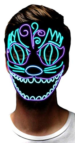 Sound Activated Mask - MuraK LED Party Light up Mask