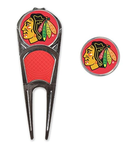 - McArthur NHL Chicago Blackhawks Golf Ball Mark Repair Tool & Hat Clip Combo