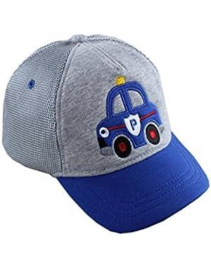 Toddler Boys Bule Car Toddler Boys Baseball Cap Sun Hat(6m-6y)