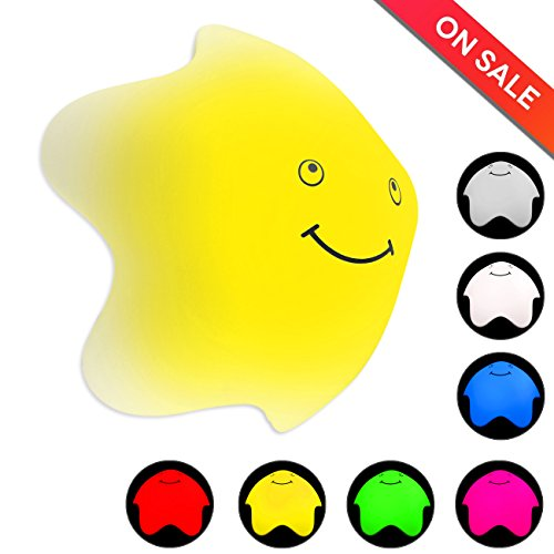 Inchic Decor Night Light, Star Silicone Nursery Toy Night Lamp for Kids, 7 Color Changing, Touch Control, USB Rechargeable (1 pack)