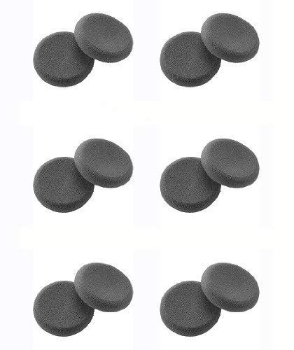 Plantronics (43937-01) 6-Pairs Replacement Ultra soft Foam Ear Cushions for DuoSet H141, H141N and CS50, CS55 headset - Made in USA