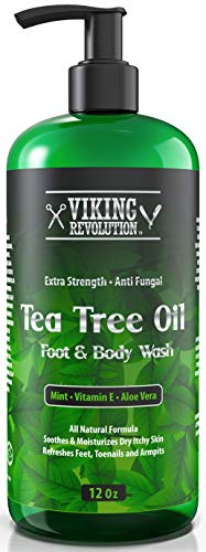 Antifungal Tea Tree Oil Body Wash Soap for Men - Helps Athlete's Foot, Toenail Fungus, Jock Itch, Eczema, Ringworm & Body Odors - Extra Strength Men's Body Wash