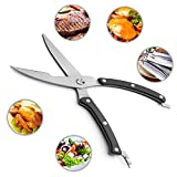 Kitchen Scissors Chefs Grade Sharp Poultry Scissors & Kitchen Shears for Poultry, Fish, Seafood, Herbs, Meat Chefs, Heavy Duty Stainless Steel Shears