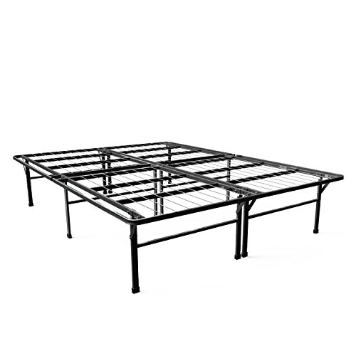 Zinus Gene 16 Inch SmartBase Deluxe Mattress Foundation 2 Extra Inches high for Under-bed Storage Platform Bed Frame Box Spring Replacement Strong, Sturdy Quiet Noise-Free, Queen