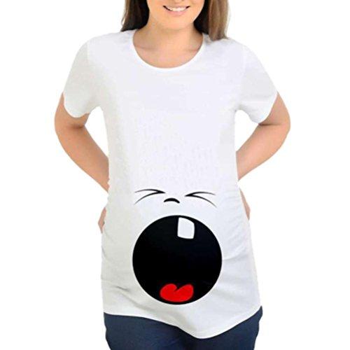 Infermieristica maternit Top Shirt Premaman Casual Stampa Premaman T Shirt Maglia Premaman Luoluoluo Camicetta Divertenti Magliette T USw16gWqx