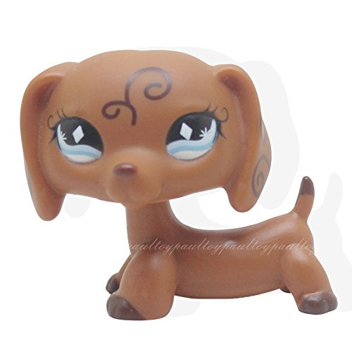 tongrou RARE Littlest Pet Shop Brown Dachshund Dog Puppy Dia