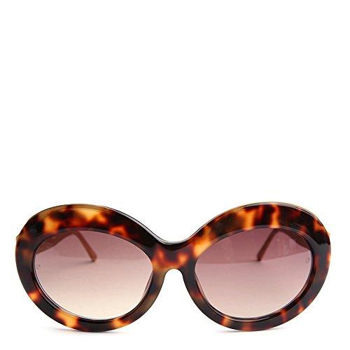 eee87af8bd16 Linda Farrow Chunky Cat Eye Sunglasses LFL322C3SUN Gold Brown