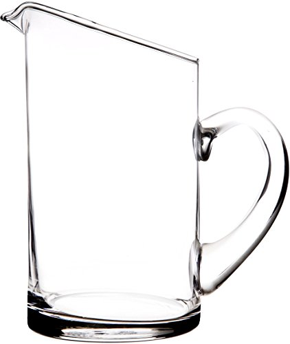 Elegant And Durable 32 Oz. Modern Clear Glass Pitcher with Easy Pour Spout and Handle