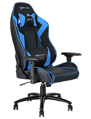 Ewin silla Champion serie ergonómico silla de oficina ordenador Gaming con pillows- CPC (negro