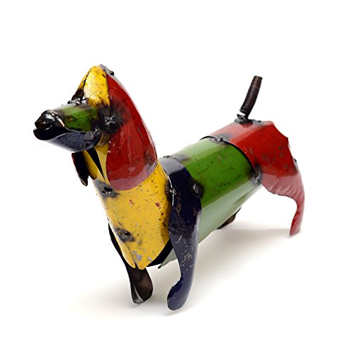 Rustic Arrow Small Weiner Dog for Decor, 13 by 3 by 9-Inch, Multicolor