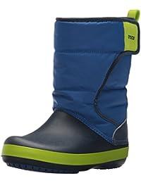 Crocs LodgePoint K Snow Boot, Navy/Slate Grey, 3 M US Little Kid