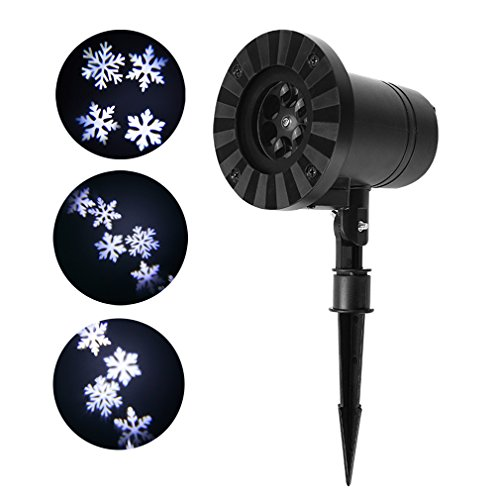 2017 Christmas Lights Projector LED Snowflake Light Outdoor Waterproof Spotlight Night Light for Christmas Halloween Holiday Landscape Decoration (white snowflake) (Allen Halloween 2017)