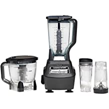 Nutri Ninja Blender/Food Processor with 1500-Watt Auto-iQ Base, 72oz Pitcher, 64oz Processor Bowl, (2) 16oz Smoothie Cups, Dough Blade and More (BL770)