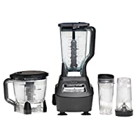 Nutri Ninja Blender/Food Processor with 1500-Watt Auto-iQ Base, 72oz Pitcher, 64oz Processor Bowl