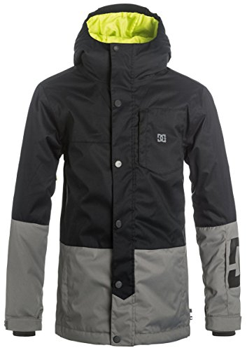 DC Defy Boys Skiing Snowboard Jacket - Black Large