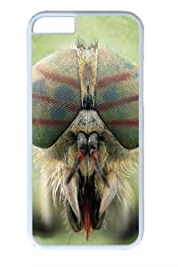 Big Face Horse Fly Polycarbonate Hard Case Cover for iphone 6 plus 5.5 inch White
