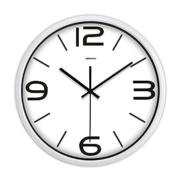 Ideas redondo salón moderno reloj de pared elegante habitación personalizada David ronda gran reloj digital de