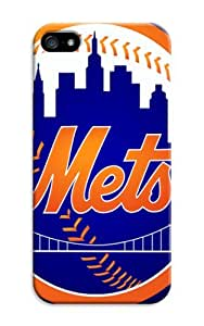 LarryToliver Design Case With Hard Shell Cover for iphone 5/5s Customizable Baseball New York Mets