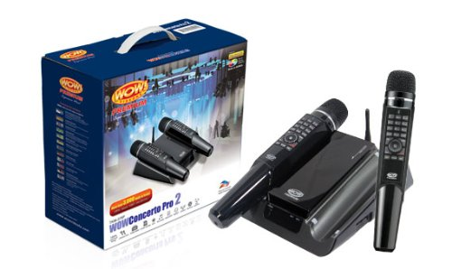 WOW Videoke Concerto Pro 2 TKM-370P (2 wireless mics, more and better songs than Magic Sing)