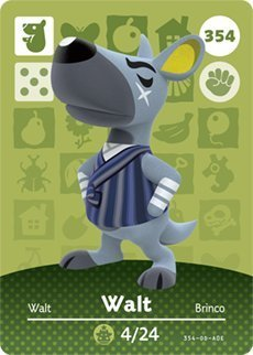 Walt - Nintendo Animal Crossing Happy Home Designer Series 4 Amiibo Card - 354