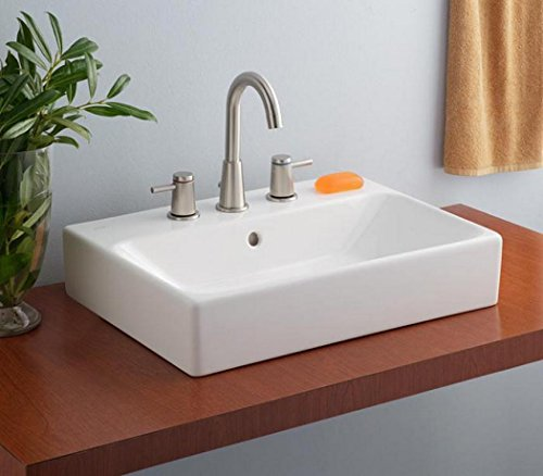 Cheviot Products Inc. 1234-WH-1 Nuo Vessel Sink, 23 5/8'' x 17 3/8'', White by Cheviot Products Inc.
